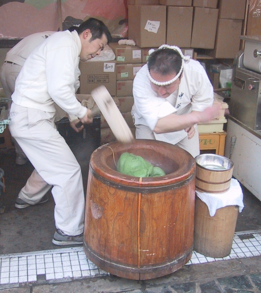 Приготовление теста мочи в Японии